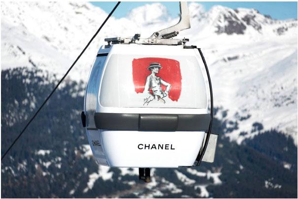 Chanel Gondola in Courchevel, France