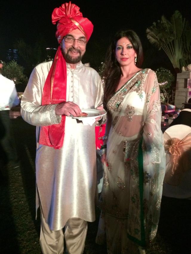 Celebrity Guests Kabir Bedi & Vida Samadzai