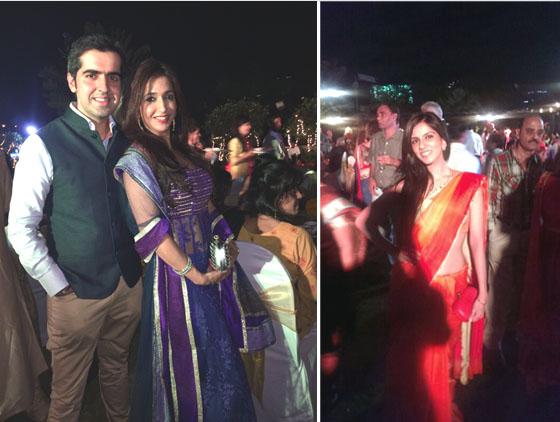 Guests Krishika Lulla & Nishka Lulla Carrying Bottega Veneta Knots With Their Saris